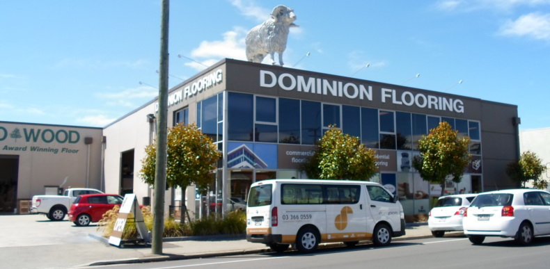 dominion flooring showroom exterior